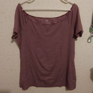 Red Striped Old Navy Top
